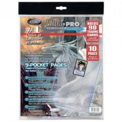 Ultra Pro Platinium Pages 9-Pocket, 10pz