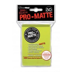 Ultra Pro - Pro-Matte Standard 50 Sleeves - Bright Yellow