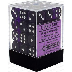 Chessex D6 Brick 12mm Translucide Dice (36) - Purple