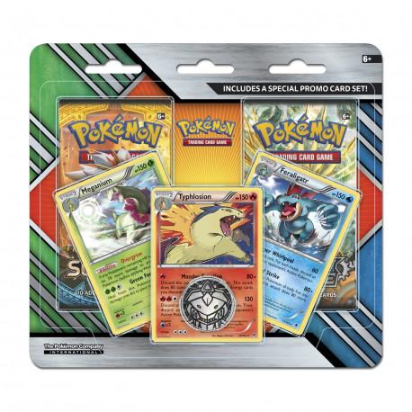 Pokemon - Enhanced 2 Pack Blister - Meganium + Typhlosion + Feraligatr  Promos