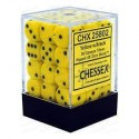 Chessex - D6 Brick 12mm Opaque Dice (36) - Yellow / Black
