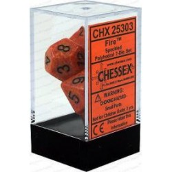 Chessex - Polyhedral 7-Die Set Speckled Dice (36) - Fire