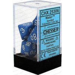 Chessex - Polyhedral 7-Die Set Speckled Dice (36) - Water