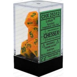 Chessex - Polyhedral 7-Die Set Speckled Dice (36) - Lotus