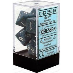 Chessex - Polyhedral 7-Die Set Speckled Dice (36) - Sea