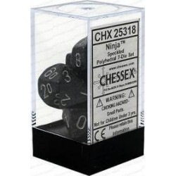 Chessex - Polyhedral 7-Die Set Speckled Dice (36) - Ninja