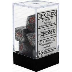 Chessex - Polyhedral 7-Die Set Speckled Dice (36) - Granite