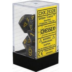 Chessex - Polyhedral 7-Die Set Speckled Dice (36) - Urban Camo