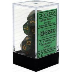 Chessex - Polyhedral 7-Die Set Speckled Dice (36) - Golden Recon