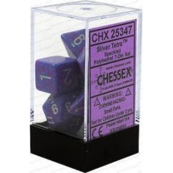 Chessex - Polyhedral 7-Die Set Speckled Dice - Silver Tetra
