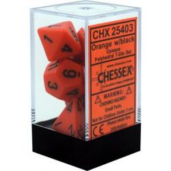 Chessex - Polyhedral 7-Die Set Opaque Dice (36) - Orange / Black
