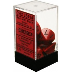 Chessex - Polyhedral 7-Die Set Opaque Dice (36) - Red / Black