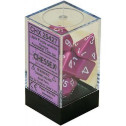 Chessex - Polyhedral 7-Die Set Opaque Dice (36) - Light Purple / White