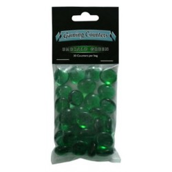 Gaming Counters - Emerald Green, 30ct