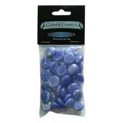 Gaming Counters - Marble Blue, 30ct