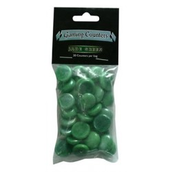 Gaming Counters - Jade Green, 30ct