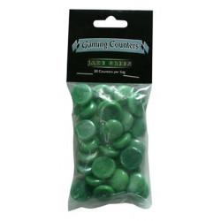 Gaming Counters - Jade Green, 30ct