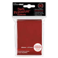 Ultra Pro - Standard 50 Sleeves - Red