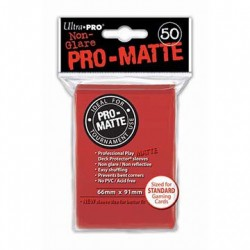 Ultra Pro - Pro-Matte Standard Deck Protectors 50ct Sleeves - Red