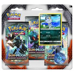 Pokemon - SM3 Burning Shadows 3 Pack Blister - Bundle (Meowth + Cosmog)