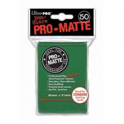 Ultra Pro - Pro-Matte Standard 50 Sleeves - Green