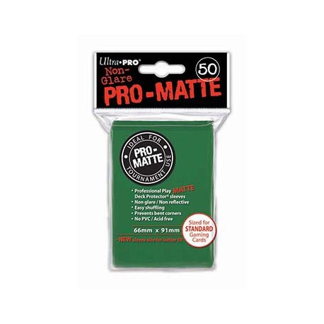 Ultra Pro - Pro-Matte Standard Deck Protectors 50ct Sleeves - Green