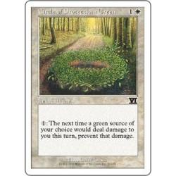 Cercle de protection : vert