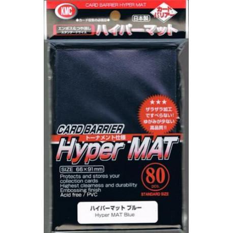 KMC - Hyper Mat Standard 80ct Sleeves - Blue