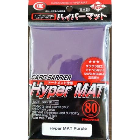 KMC - Hyper Mat Standard 80ct Sleeves - Purple
