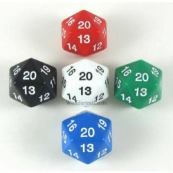Koplow - Assorted 30mm D20 Countdown in Tube (5 Dice)