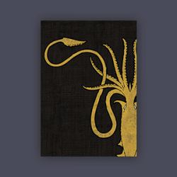 FFG Supply Sleeves - Game Of Thrones - House Greyjoy (50 Sleeves)