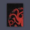 FFG Supply Sleeves - Game Of Thrones - House Targaryen (50 Sleeves)