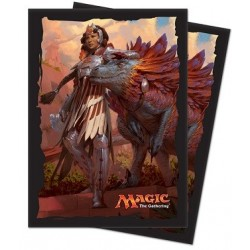 Ultra Pro - Ixalan Standard Deck Protectors 80ct Sleeves - Huatli, Warrior Poet