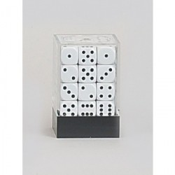 D6 Brick 12mm Opaque Dice (36) - White
