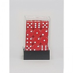 D6 Brick 12mm Opaque Dice (36) - Red