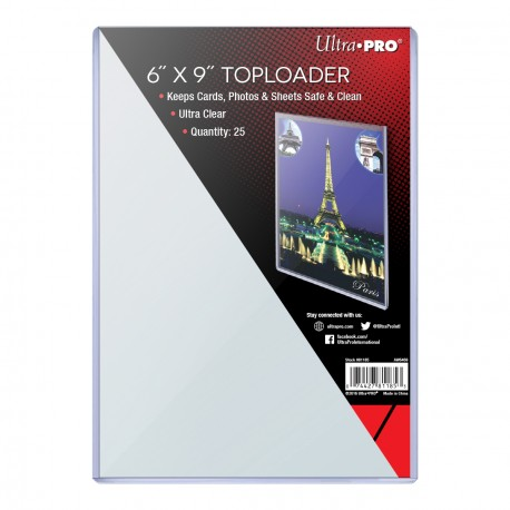 """Ultra Pro -  6"""" X 9"""" Oversized Toploader, 25ct"""