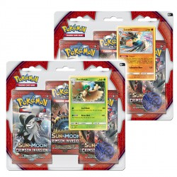 Pokemon - SM4 Crimson Invasion 3 Pack Blister - Bundle (Decidueye + Lucario)