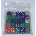 D6 Bag 12mm Translucide Dice (25)
