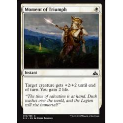 Augenblick des Triumphs