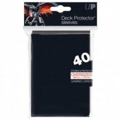 Ultra Pro - Oversized Deck Protectors 40ct Sleeves - Black
