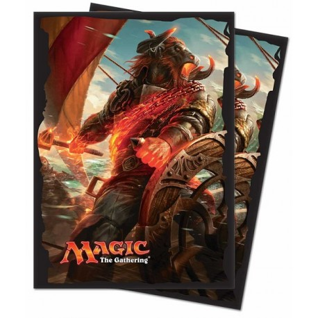 Ultra Pro - Ixalan Standard Deck Protectors 80ct Sleeves - Angrath, the Flame-Chained