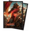 Ultra Pro - Rivals of Ixalan Standard Deck Protectors 80ct Sleeves - Angrath, the Flame-Chained
