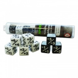 Positive/Negative D6 Dice 16 mm (8 Dice)