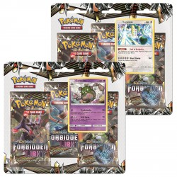 Pokemon - SM6 Forbidden Light 3 Pack Blister - Bundle (Garbodor + Regigigas)
