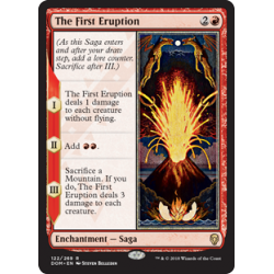 The First Eruption