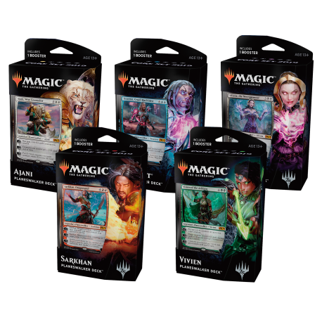 Set Deck de Planeswalker Édition de base 2019 (5 Decks)