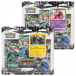 Pokemon - SM7 Sturm am Firmament 3-Pack Blister - Bundle (Tapu Koko + Tapu Lele)