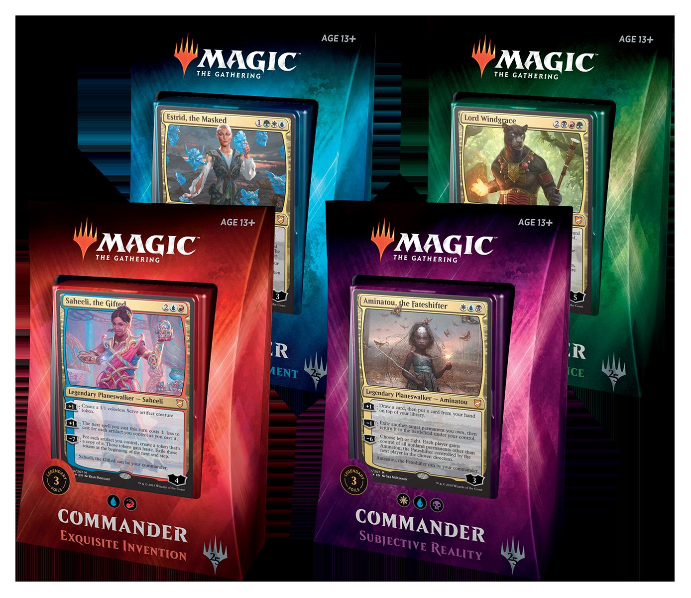 Commander 2018 - All 4 Decks - The Mana Shop