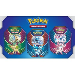 Pokemon - Evolution Celebration Tin - Set (Leafeon-GX + Glaceon-GX + Sylveon-GX)