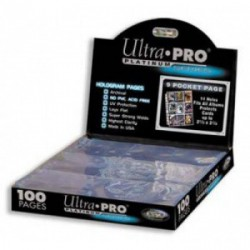 Ultra Pro - Platinum 9-Pocket Pages Display, 100ct